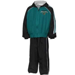 NFL Jacksonville Jaguars Toddler Black Teal Full Zip Hoodie & Pant Set