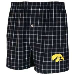 Iowa Hawkeyes Black Gridiron Boxer Shorts