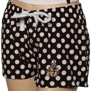 Knights Ladies Black Polka Dot Galaxy Pajama Shorts