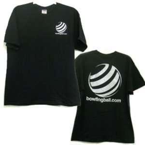 bowlingball Black T Shirt w/ Metallic Silver Lettering