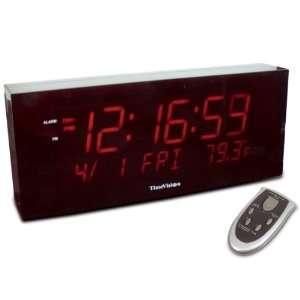 Super Large Digit Clock w Calendar and Temperature Health