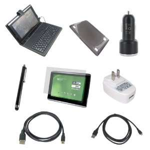 Kit for Acer Iconia Tab A500, USB Keyboard with Stand Case + TPU Case