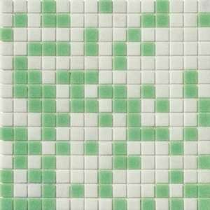 Marazzi Glass Mosaics 1 x 1 Mix Green Ceramic Tile Home