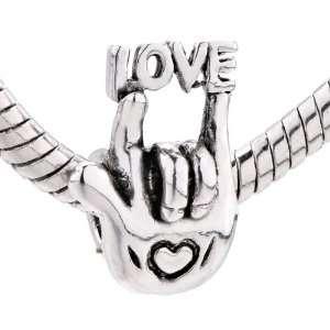 Love Heart Charm Bead Fits Pandora Chamilia Biagi Charm