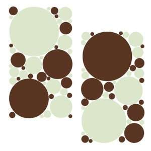 Pale Green and Chocolate Brown Polka Dots Repositionable