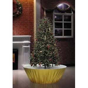 Snowing Christmas Tree 6 Feet Tall with White LED Lights