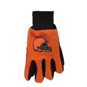 Cleveland Browns Orange & Brown Jersey Work Gloves Nfl Mcarthur Towels