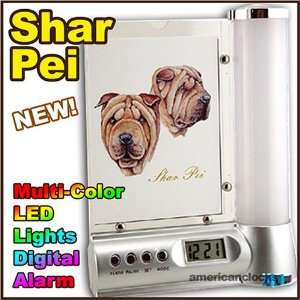 Shar Pei Photo Frame Digital DOG Alarm Clock Light Kitchen & Dining