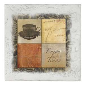 com Enjoy Today Coffee Cup Beverage Coaster, Set of 8 Home & Kitchen