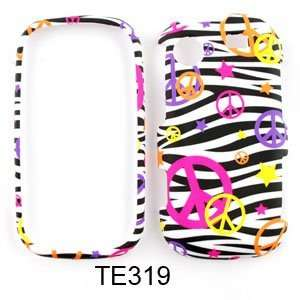FOR SAMSUNG MESSAGER TOUCH COLORFUL PEACE SIGN BLACK ZEBRA CASE COVER