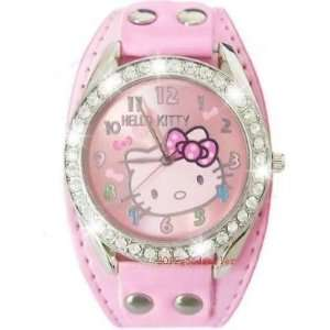 New Hello kitty Crystal Stones Quartz Watch in Pink