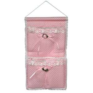 Polka Dot & & Lace] Pink/Wall Hanging/ Wall Organizers/ Baskets