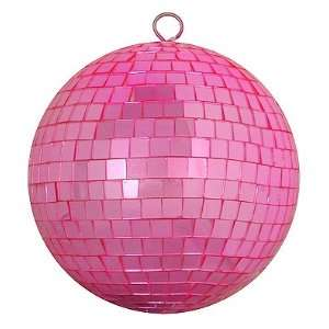 Bubblegum Pink Mirrored Glass Disco Ball Christmas Ornament 8 (200mm)