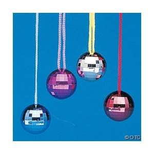 Disco Ball Necklaces   12 in Package Toys & Games