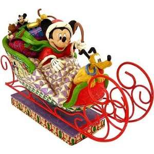 Jim Shore   Disney Traditions   Fabulous Sleigh Ride Figurine by