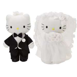 Hello Kitty   Black Tie Wedding Bridal Plush SET w/ Kitty