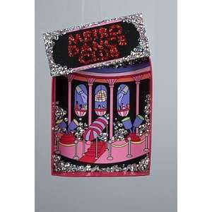Fashion Avenue Hot Pink Glitter Metro Dance Club Christmas