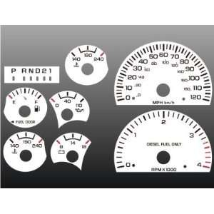 1999 2002 Dodge Ram Diesel Cummins White Face Gauges Automotive