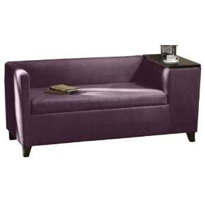Griffin Tapered Gossip Bench 60w Eggplant