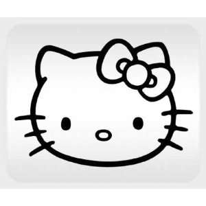 Hello Kitty Face Black Sticker Decal