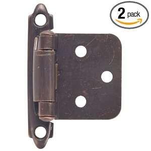64 4229 Flush Mount Self Closing Cabinet Hinge, 2 Pack, Classic Bronze