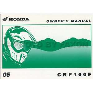 Honda CRF50F Dirt Bike Owners Manual Original Motorcycle: Honda