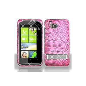 HTC ThunderBolt Full Diamond Graphic Case   Hot Pink/Pink Zebra