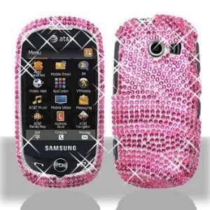 Samsung Flight II A927 Full Diamond Bling Hot Pink Zebra