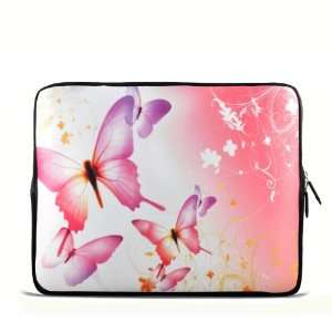 Pink Butterfly 9.7 10 10.1 10.2 inch Laptop Netbook Tablet