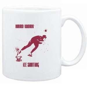 Mug White  HARD WORK Ice Skating  Sports Sports & Outdoors
