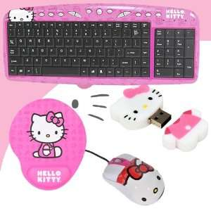 Hello Kitty USB Keyboard with Hot Keys #90309K (Pink) + Hello Kitty