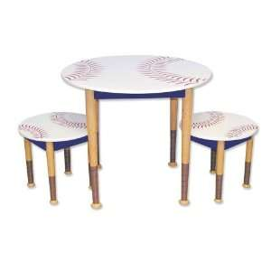 Childs Baseball Table & Chair Set