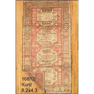 4x8 Hand Knotted Kurd Kurdistan Rug   43x82: Home & Kitchen
