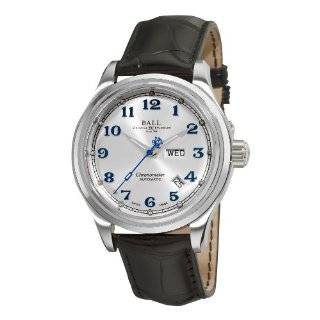 II Arabic Chronometer White Day Date Dial Watch Ball Watches