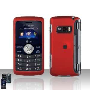 LG ENV3 VX9200 Rubberized Rose Red Premium Phone Protector Hard Cover
