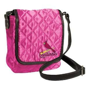 MLB St Louis Cardinals Pink Quilted Purse  Sports