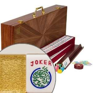 American Mahjong Set with Gold Tiles Toys & Games