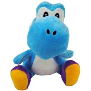 Super Mario Bros. Nintendo Wii 6 Inch Plush Blue Yoshi