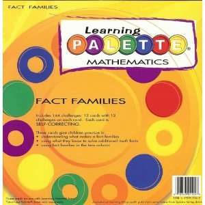 1st Grade Math Fact Families Learning Palette Toys & Games