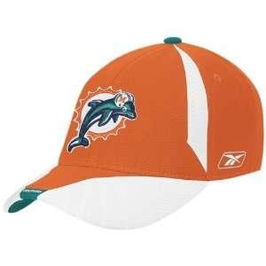 Reebok Miami Dolphins Orange Flex Fit Hat  Sports