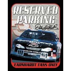 NASCAR Metal Tin Sign Earnhardt Fan Reserved Parking
