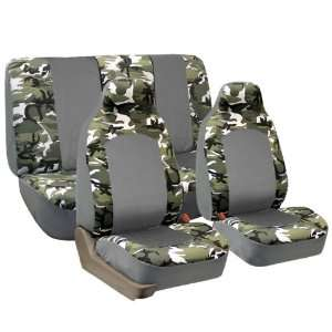 FH FB108112 Camouflage Car Seat Covers, Airbag compatible
