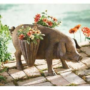 Piggy Market Basket Planters: Kitchen & Dining