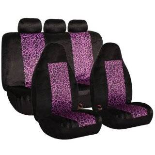 FH FB126115 2 Tone Purple Leopard Car Seat Covers, Airbag compatible