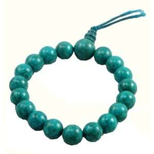 Turquoise Prayer Beads Wrist Mala: Arts, Crafts & Sewing