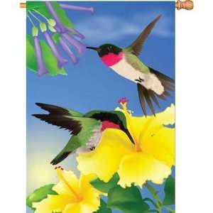 New Premier Designs PD52791 Always Humming Birds House Flag 12 X 40