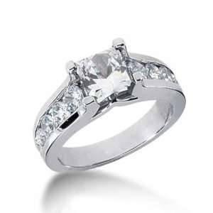 Princess Cut Diamond Engagement Ring in 18K Yellow Gold
