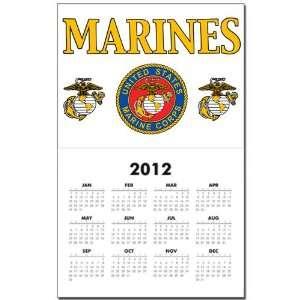 Calendar Print w Current Year Marines United States Marine Corps Seal