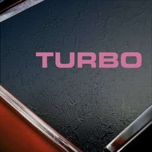Nissan Pink Decal Turbo Supercharger GT R GTR Car Pink