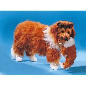 Large Collie Dog Carrying Puppy Figure Model Lifelike Decoration New